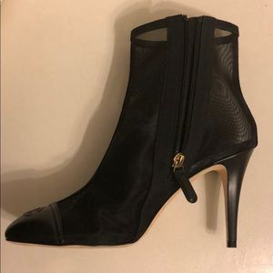 Chanel sheer ankle black boots